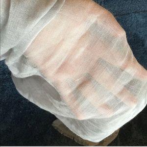 Calvin Klein Gray Grey Tissue Scarf